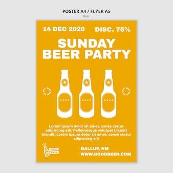 Szablon plakatu party piwo