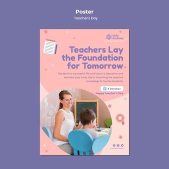 Szablon plakatu pionowego dnia nauczyciela