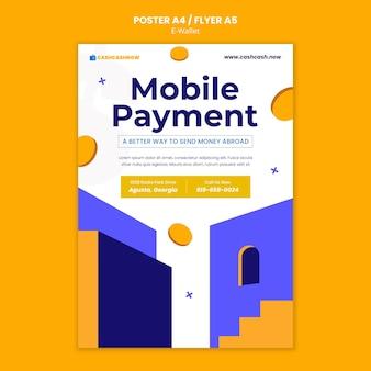 Szablon plakatu płatności mobilnych