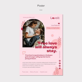 Szablon plakatu podcastu miłości