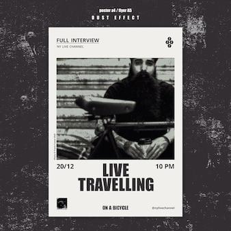 Szablon plakatu podróżnego na żywo