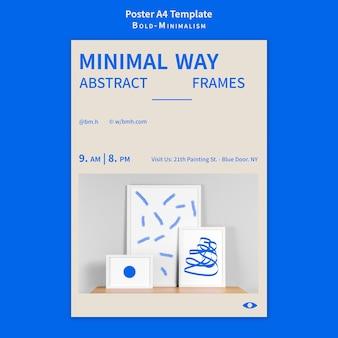 Szablon plakatu pogrubionego minimalizmu