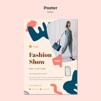 Szablon plakatu pokazu mody