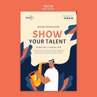 Szablon plakatu pokazu talentów