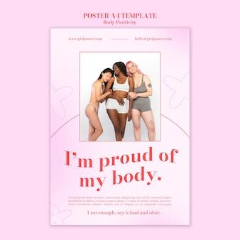 Szablon plakatu pozytywnego ciała