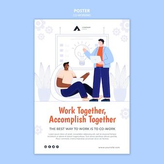 Szablon plakatu pracy zespołowej