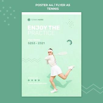 Szablon plakatu praktyki tenisowej