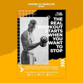Szablon plakatu procesu szkolenia