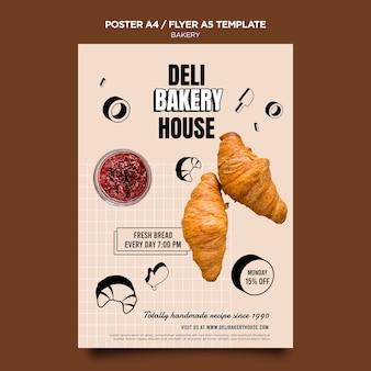 Szablon plakatu produktów piekarniczych