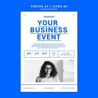 Szablon plakatu profesjonalnego biznesu