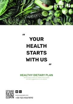 Szablon plakatu programu dietetycznego psd