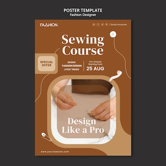 Szablon plakatu projektowania mody