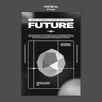 Szablon plakatu projektu 3d