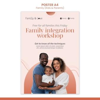 Szablon plakatu projektu rodziny