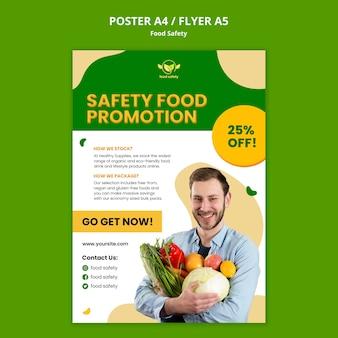 Szablon plakatu promocji bezpieczeństwa żywności