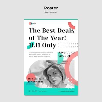 Szablon plakatu promocji sprzedaży