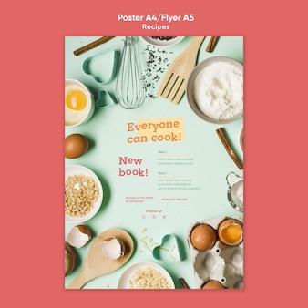 Szablon plakatu przepisy kulinarne