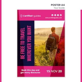 Szablon plakatu przewodnika wycieczek