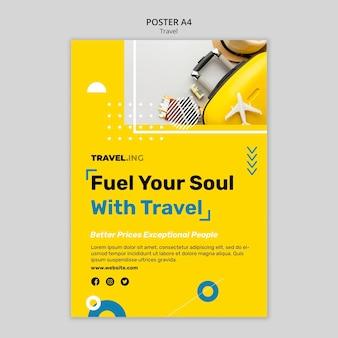Szablon plakatu przygody podróży