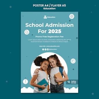 Szablon plakatu przyjęcia do szkoły