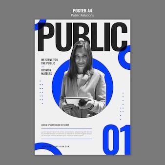Szablon plakatu public relations