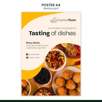 Szablon plakatu pyszne brazylijskie jedzenie