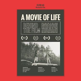 Szablon plakatu reklamowego agencji aktorskiej