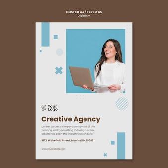 Szablon plakatu reklamy firmy