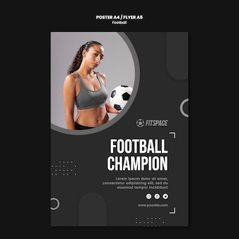 Szablon plakatu reklamy piłki nożnej