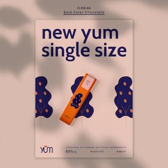 Szablon plakatu reklamy sklepu czekoladowego
