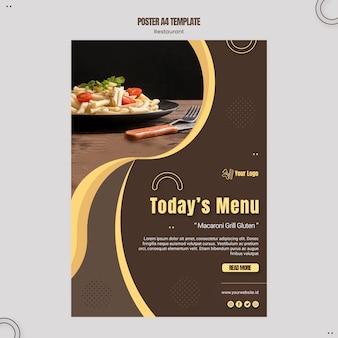Szablon plakatu restauracji makaron