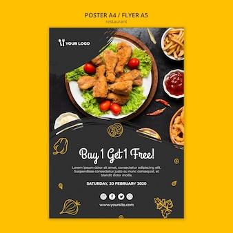 Szablon plakatu restauracji