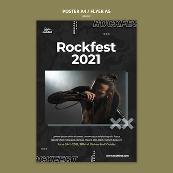 Szablon plakatu rockfest 2021