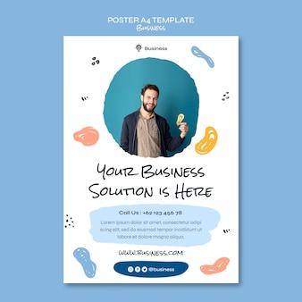Szablon plakatu rozwiązania biznesowego