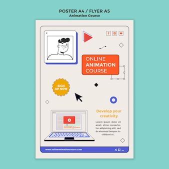 Szablon plakatu rozwoju animacji
