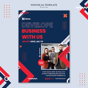Szablon plakatu rozwoju biznesu