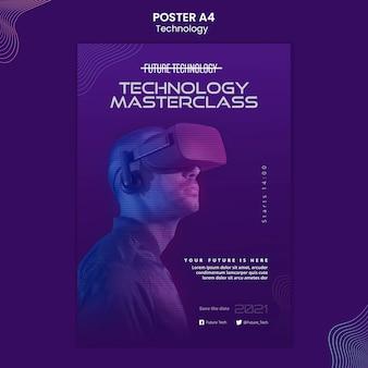 Szablon plakatu rzeczywistości wirtualnej