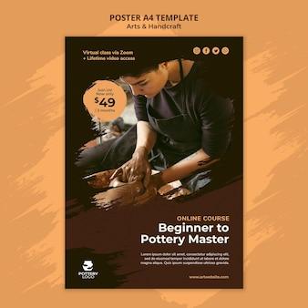 Szablon plakatu rzemiosła artystycznego i ręcznego