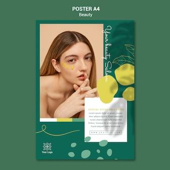 Szablon plakatu salonu piękności
