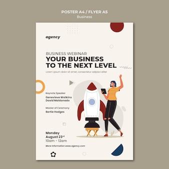 Szablon plakatu seminarium biznesowego