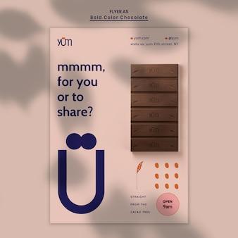 Szablon plakatu sklep z czekoladą
