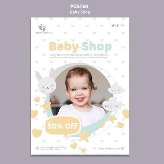 Szablon plakatu sklepu dziecięcego