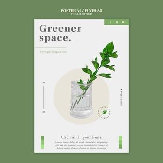 Szablon plakatu sklepu roślinnego