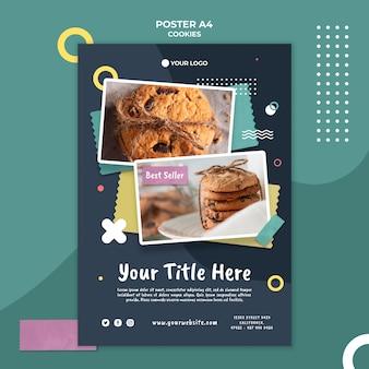 Szablon plakatu sklepu z ciasteczkami