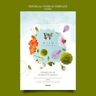 Szablon Plakatu Sklepu Z Kwiatami Premium Psd