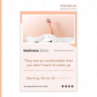 Szablon plakatu sklepu z materacami