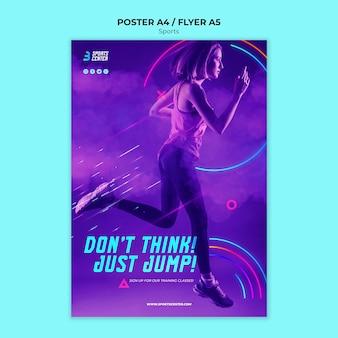Szablon plakatu sportowego