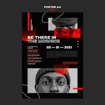 Szablon plakatu sprzedaży biletów muzycznych