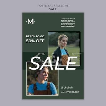 Szablon plakatu sprzedaży mody
