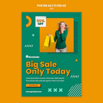 Szablon plakatu sprzedaży online